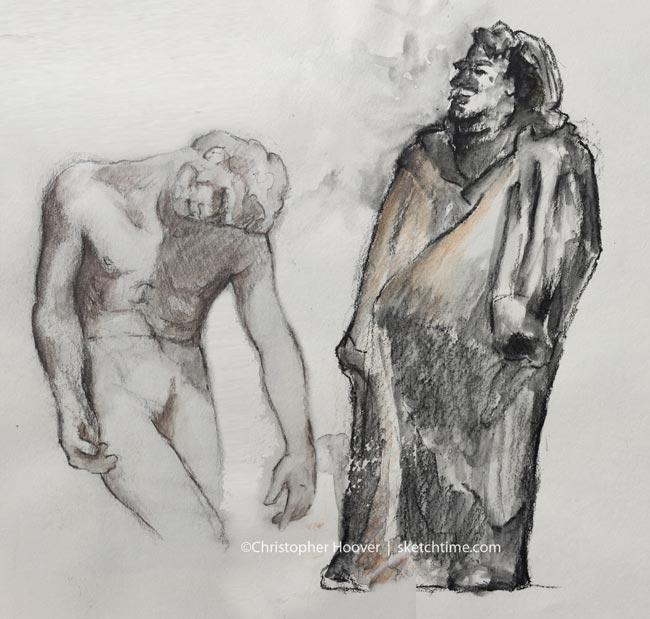 sculpture-sketching